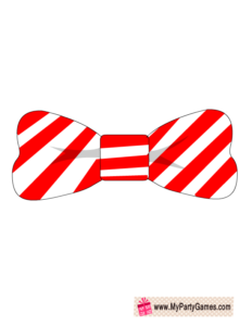 Free Printable Bow Tie Christmas Photobooth Prop December Part 6
