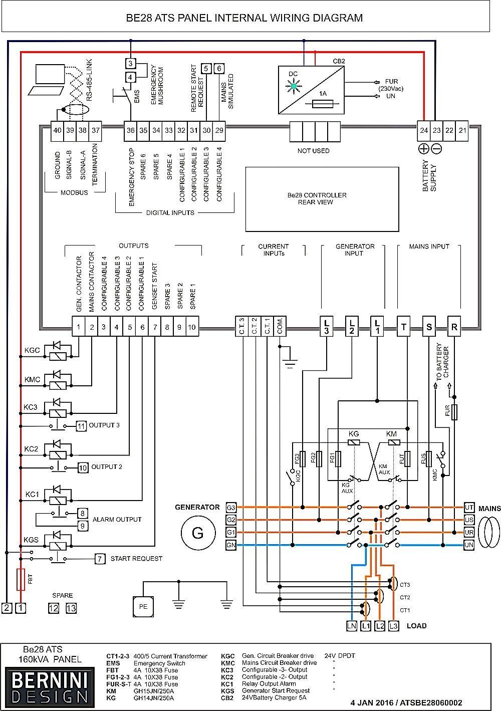 Transfer Switch Wiring Diagram Inspirational In 2020 Electrical Panel Wiring Transfer Switch Electrical Circuit Diagram
