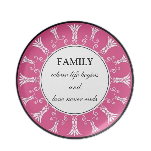 Inspirational Family Quote Keepsake Dinner Plate Zazzle Com