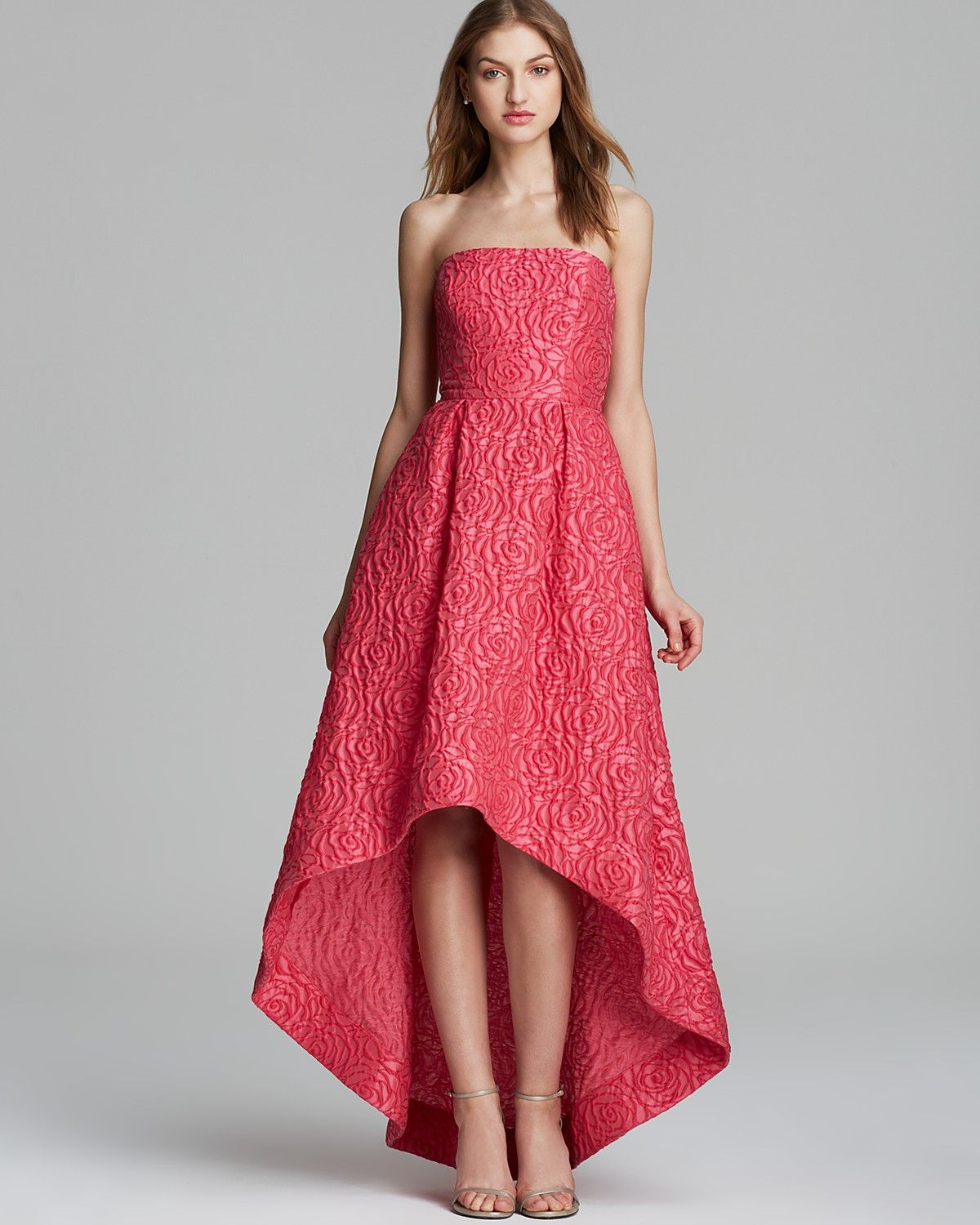 e75adddf6b ML Monique Lhuillier Gown - Strapless Jacquard High/Low | Bloomingdale's