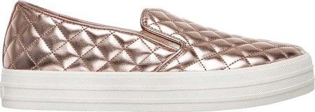 4c07c0048e67 Skechers Double Up Duvet Slip-On Sneaker - Rose Gold 9.5