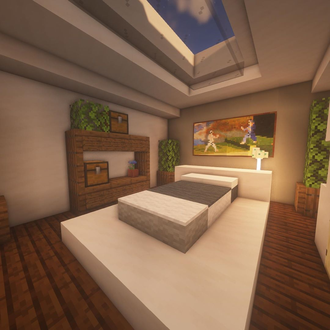 Bedroom With A Small Pool An Original Minecraft Design By Kugio