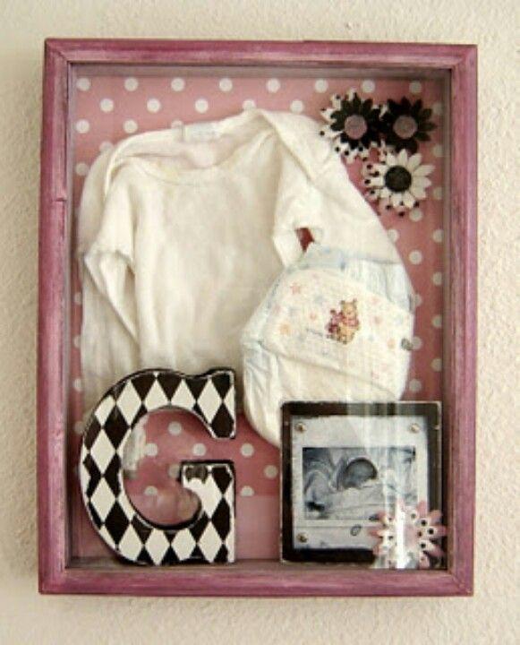 Baby Shadow Box Elle Girl Pinterest Shadow Box Box And Babies
