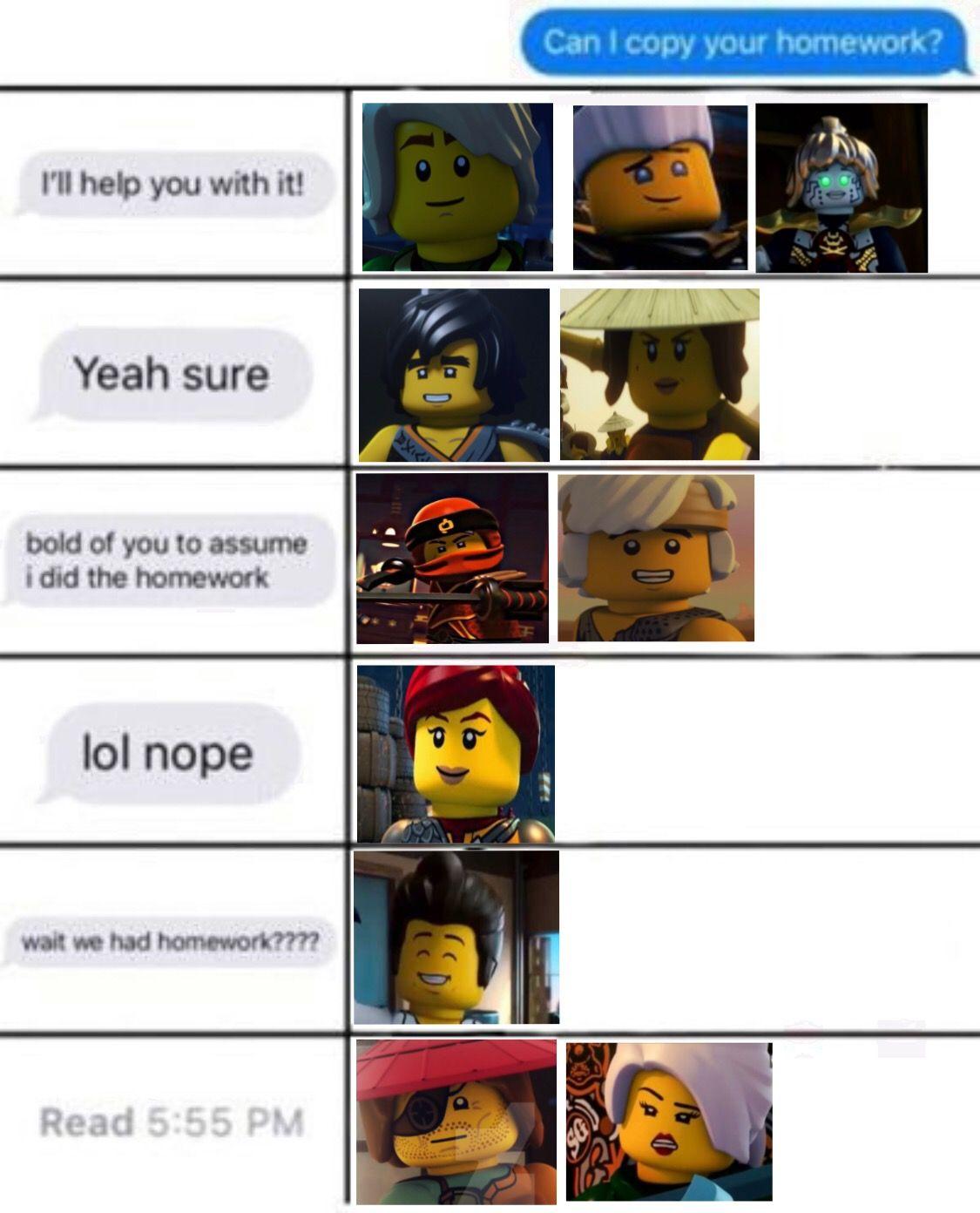 Pin By K Zay Island On Funny Because Some Of It Is True Lego Ninjago Movie Ninjago Ninjago Memes