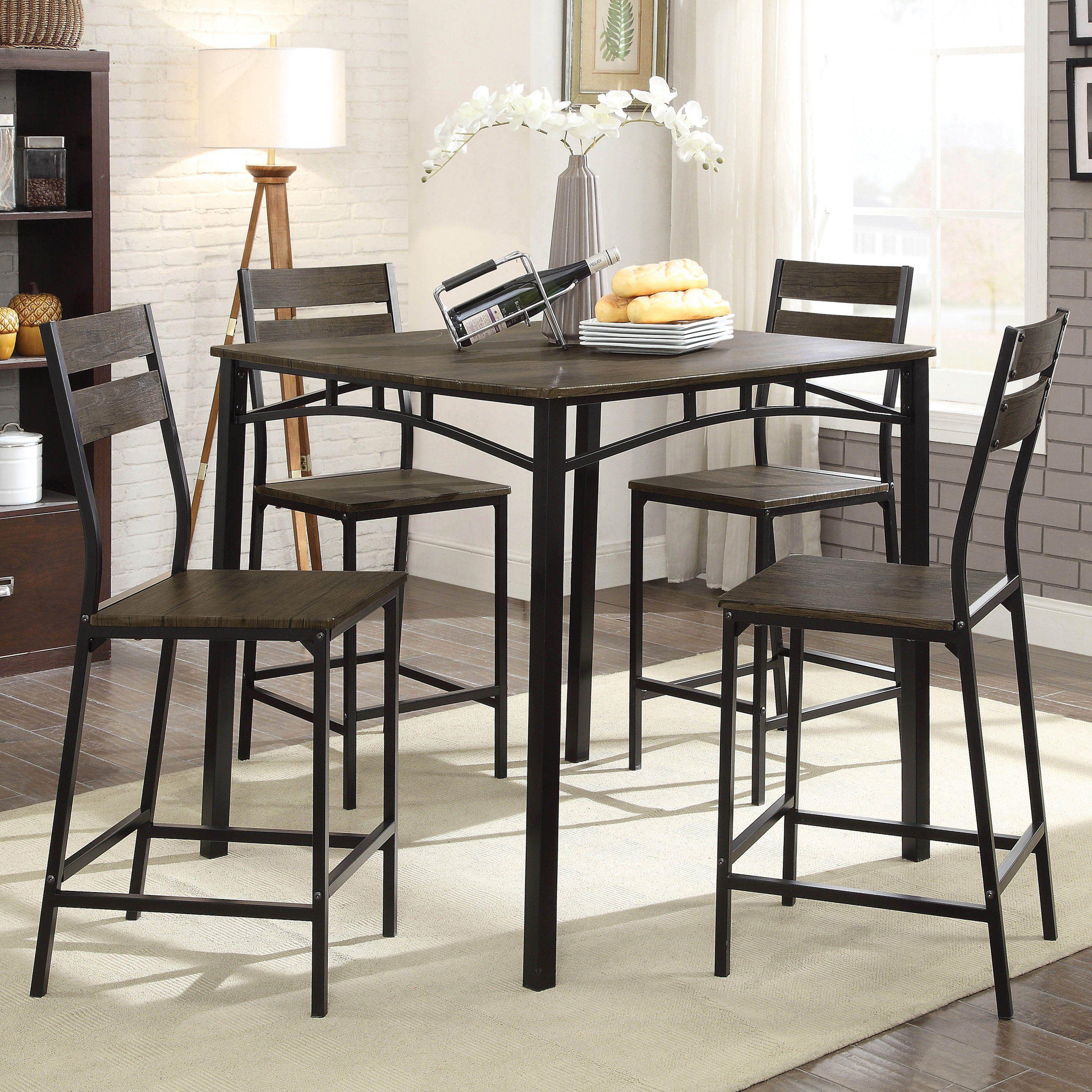 Furniture Of America Patton Rustic Modern 5 Piece Counter