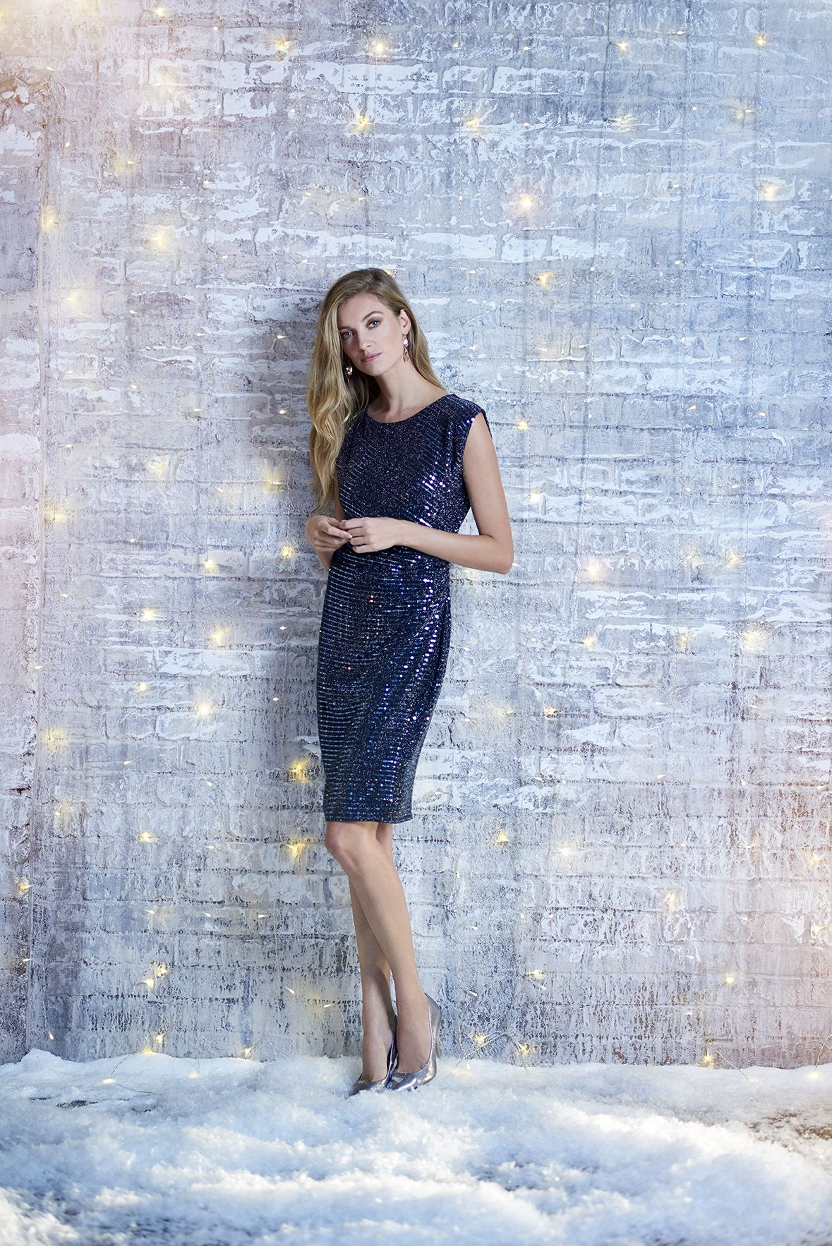 2532fdd3 Sparkle through the festive season! Have you got your Christmas party dress  ready? Wallis Sequin Detailed Dress