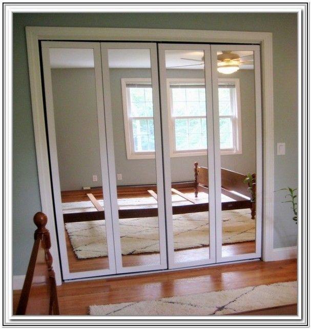 Bifold Mirrored Closet Door Hardware Home Design Ideas House