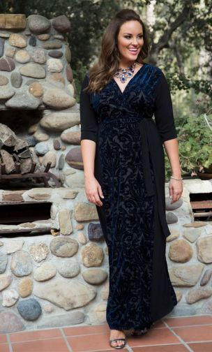 a1b027eeffc Plus Size Ornate Velvet Maxi Dress  affiliate link
