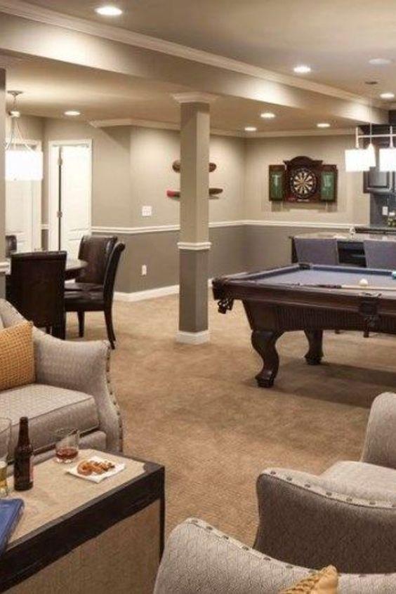 Photo of Wohnzimmer Aufenthaltsraum Keller Design Property Interior Design – Home Rec …