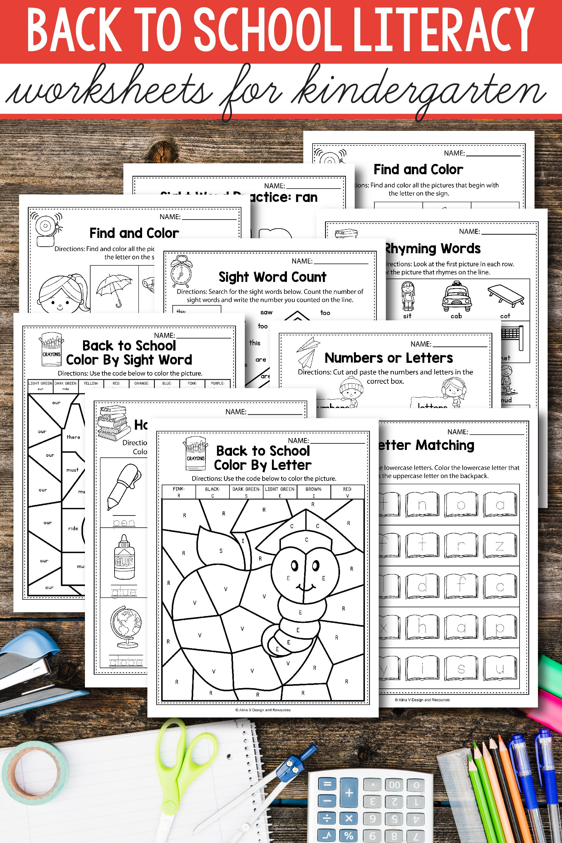 Back To School Literacy Activities For Kindergarten 1st