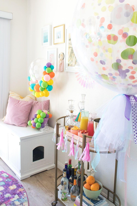 pretty pastel easter brunch  vintage room decor living