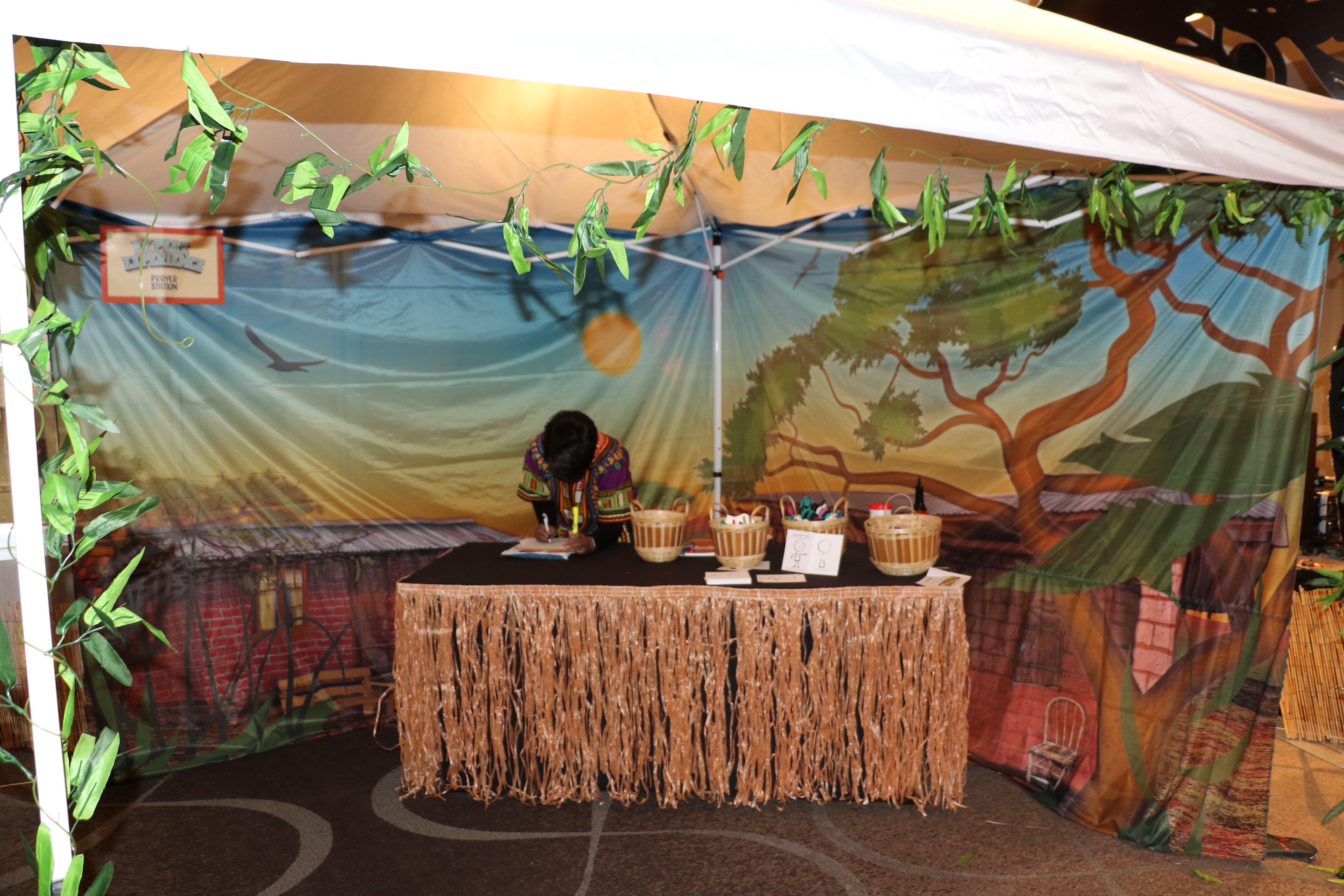 Your prayer station could take place beneath a tent