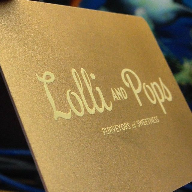 Todays cardoftheday is a lolli and pops gift card 30 mil pvc 30 mil pvc card w custom artwork gold metallic ink spot uv lettering and a barcode reheart Gallery