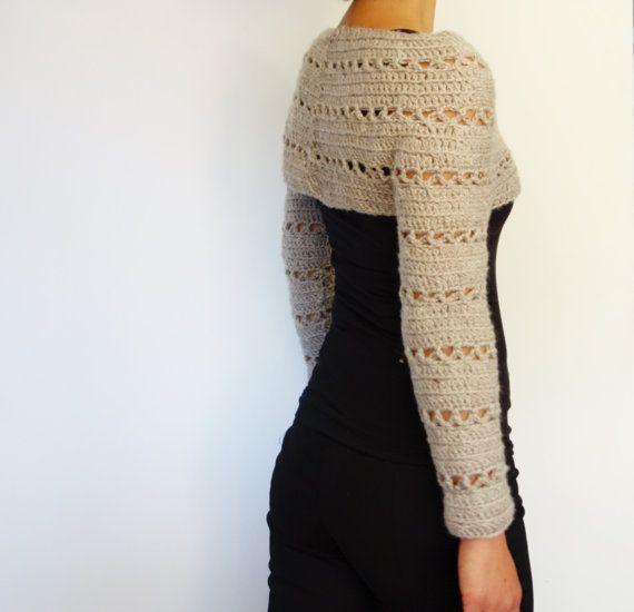 Crochet Pattern Caramel Cropped Sweater/ Chunky Knit | Abrigarse ...