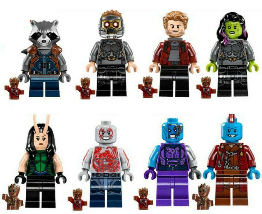 Groot Marvel Avangers Guardians of the Galaxy Super Heroes Building Blocks Toy