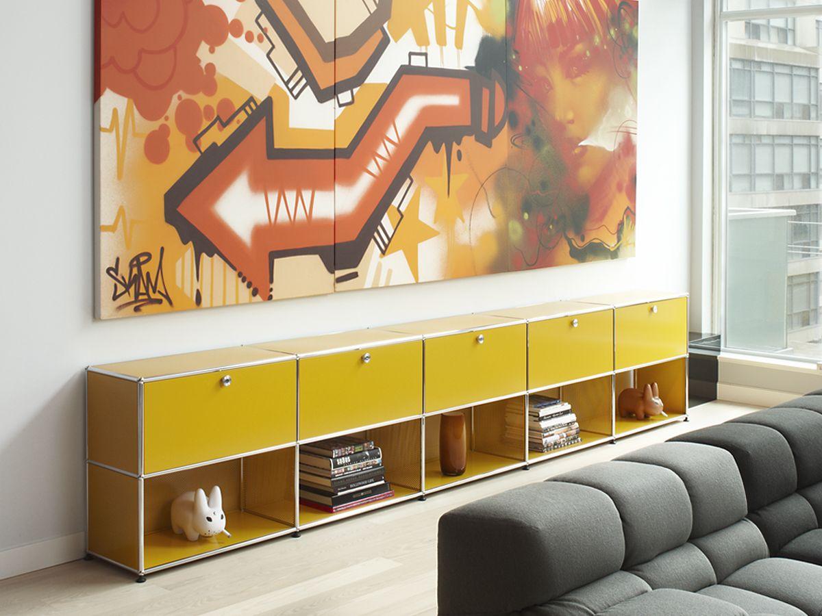 USM Haller sideboard in golden yellow. www.usm.com | DIY projects ...
