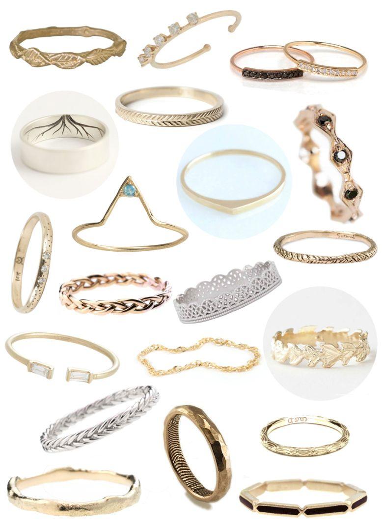 Non traditional wedding ring ideas
