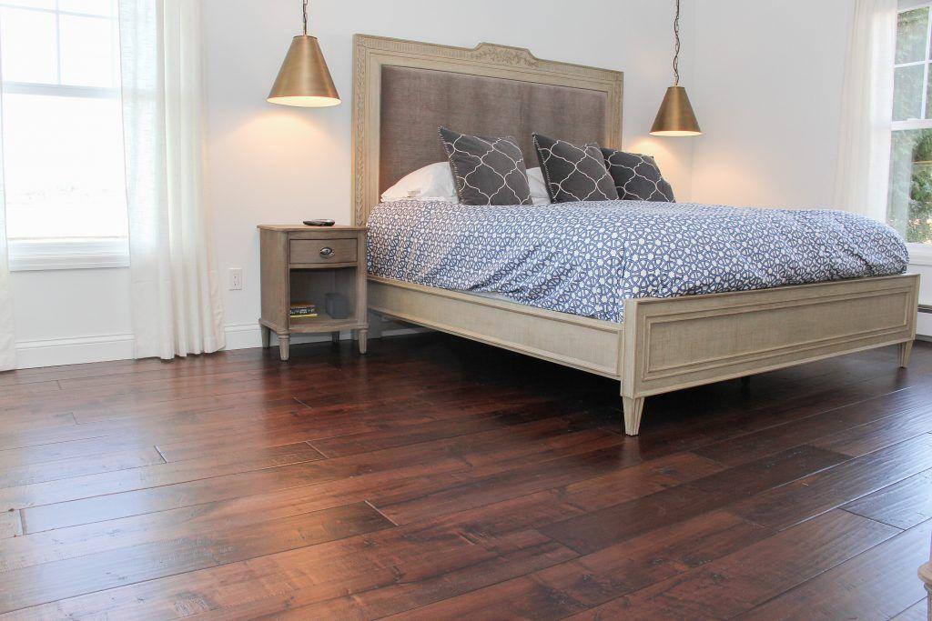 Medium Maple Master Bedroom Hardwood Flooring | Living room ...