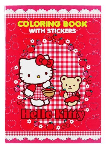 Hello Kitty Coloring Book With Stickers Red Check Out This Great Product Note It Is Affiliate Link To Am Hello Kitty Coloring Hello Kitty Cat Coloring Book