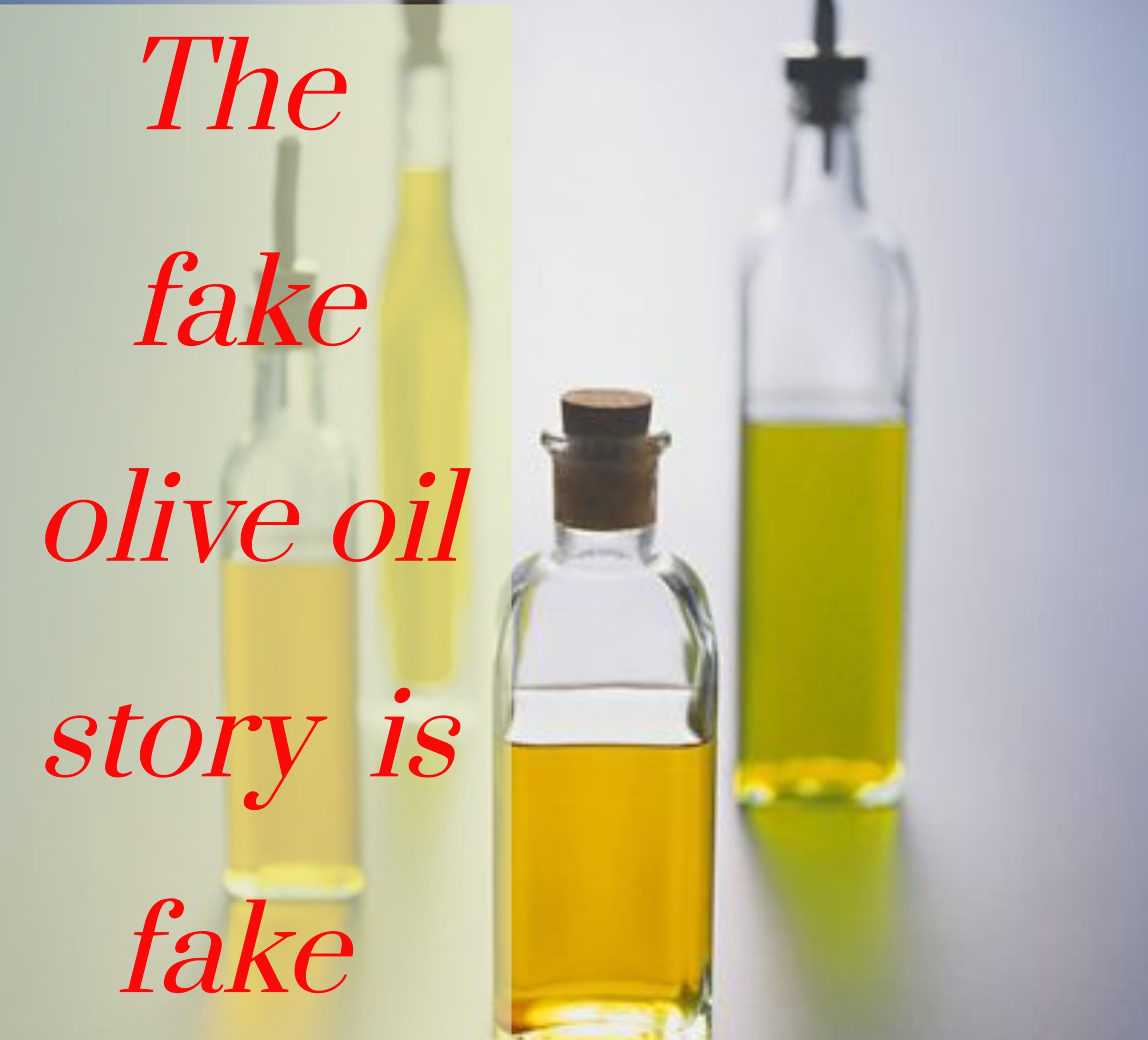 14 fake olive oil companies revealed!!! This headline you