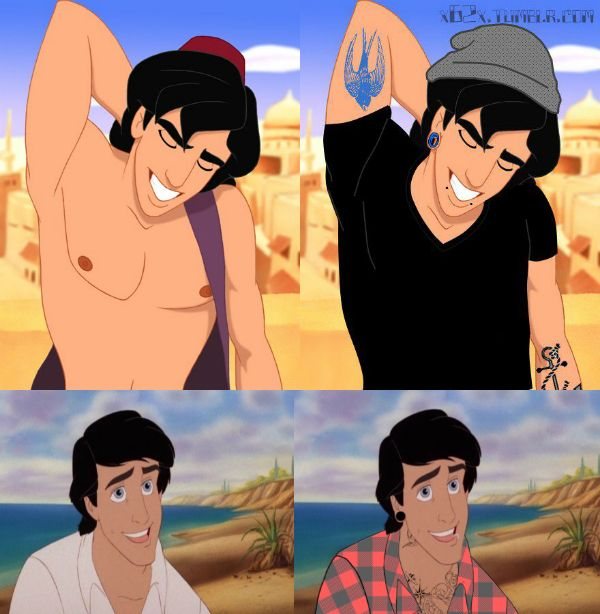 Hipster Aladdin and Eric...is it weird that I find this attractive?