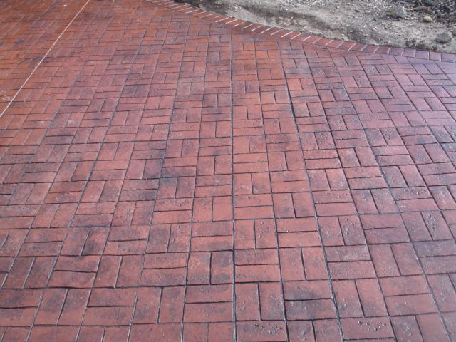 Basket Weave Pattern Pavers : Brick red basket weave driveway bolton ideas
