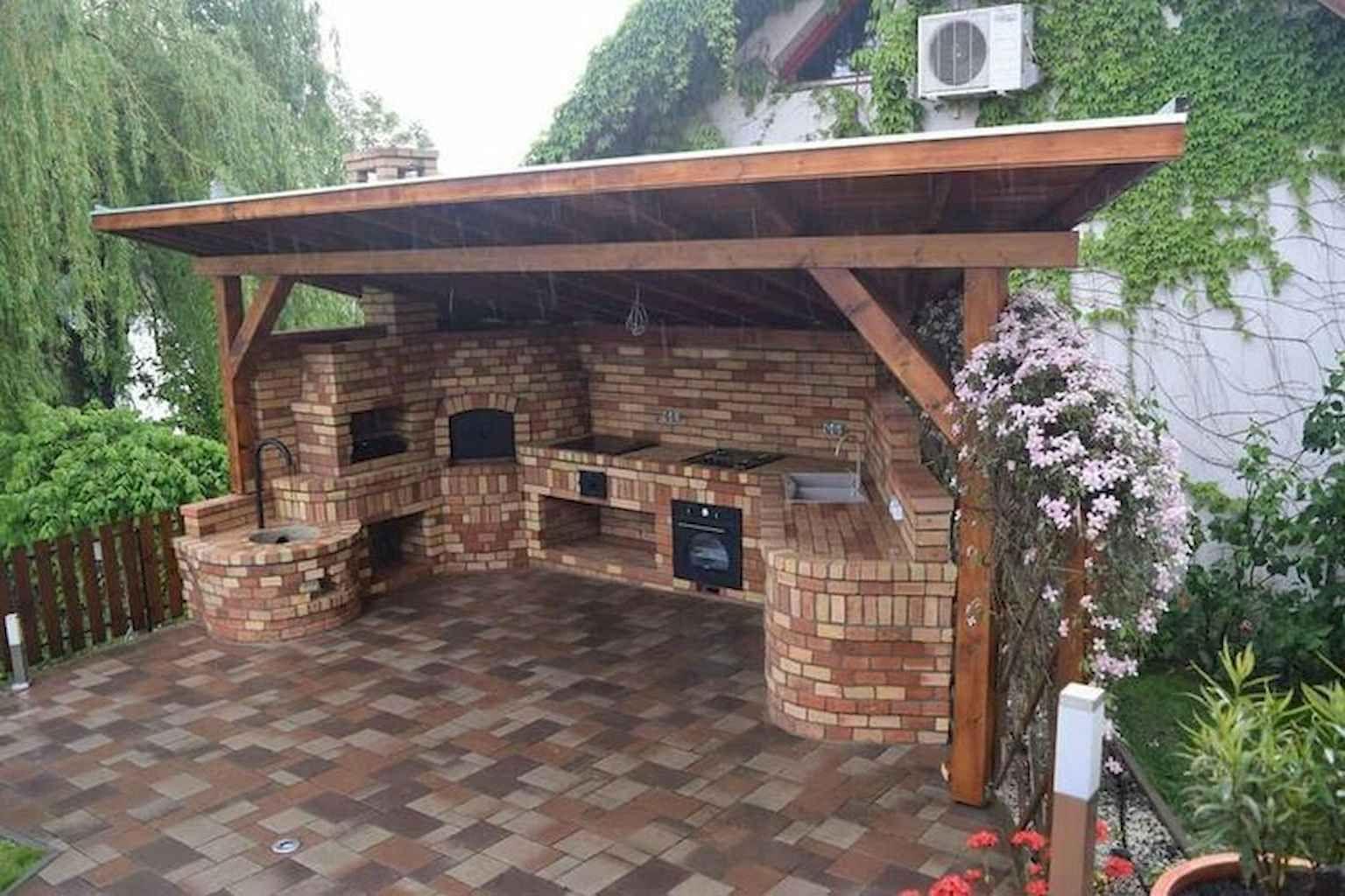 85 Incredible Outdoor Kitchen Design Ideas For Summer Homekover Backyard Patio Designs Backyard Kitchen Outdoor Kitchen Design
