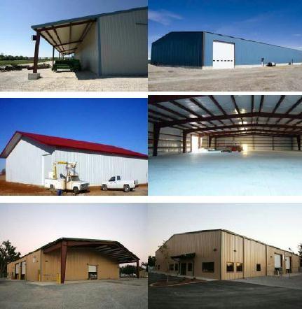 Construction de bâtiment avec grande portée Maison ossature - plan maison structure metallique