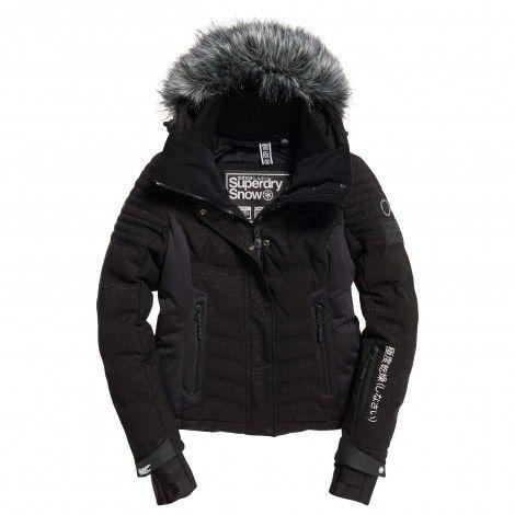 Luxe Winterjas Heren.Superdry Luxe Snow Puffer Winterjas Dames Black Frost