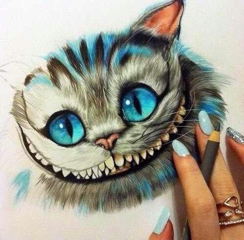 I loveee the chesire cat alice in wonderland drawing