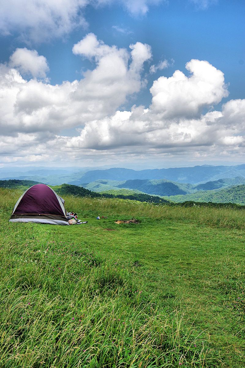 Camping Atop Max Patch Near Asheville In Pisgah National