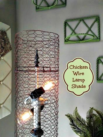 Chicken wire lamp shade stowandtellu i heart lighting chicken wire lamp shade stowandtellu greentooth Image collections