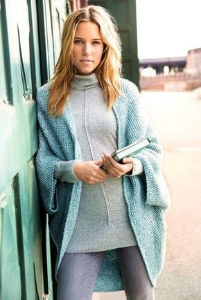 Photo of Soul warmer batwing cardigan – free knitting instructions
