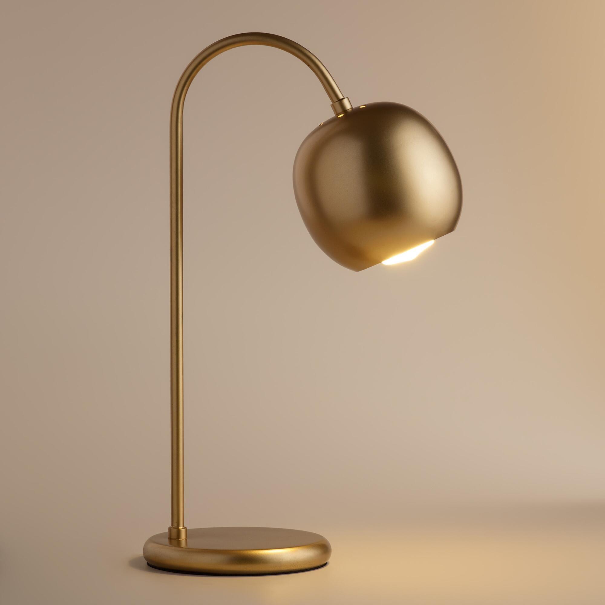 Antique Gold Scoop Desk Lamp