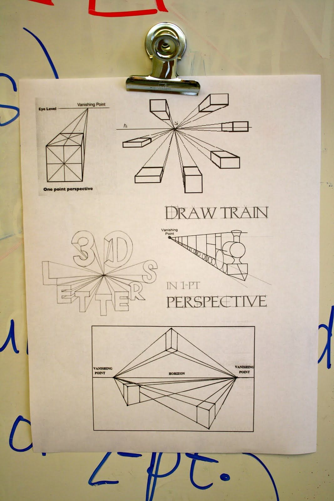 Dali S Moustache 5th Grade One Point Perspective