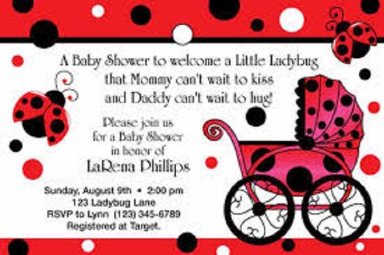 Free Printable Ladybug Baby Shower Invitations Party Invitation