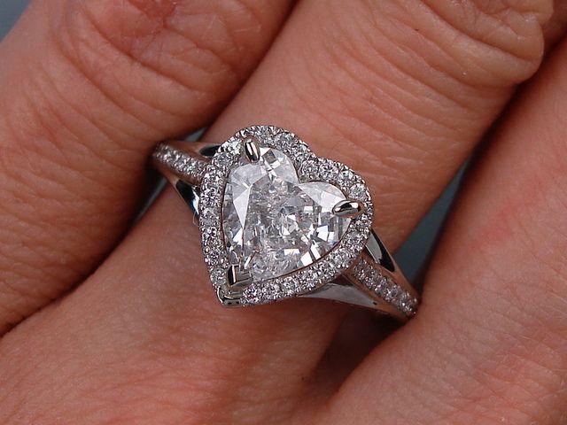 ctw heart shape diamond engagement ring g si3 for. Black Bedroom Furniture Sets. Home Design Ideas