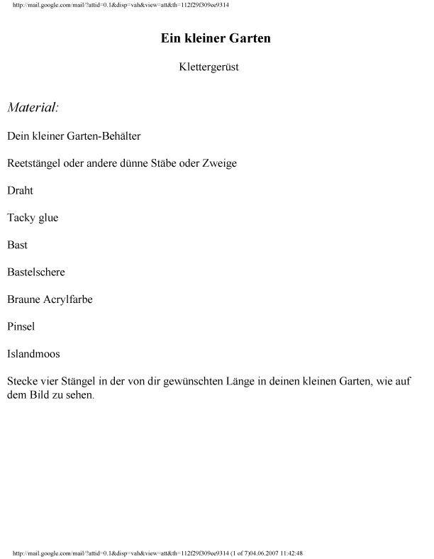 Kleiner Garten2,1 | Meine Anleitungen (My Tutorials) | Pinterest
