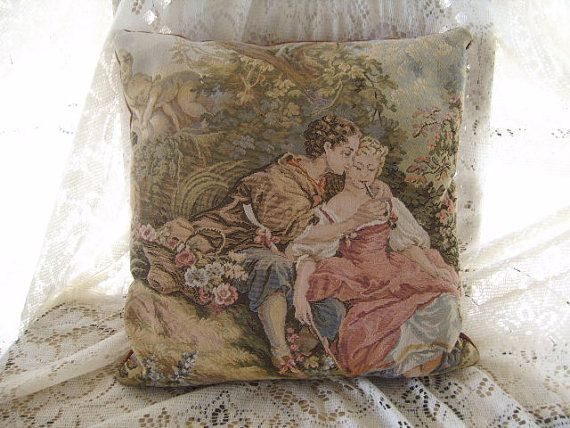 Vintage Victorian Style Tapestry Pillow
