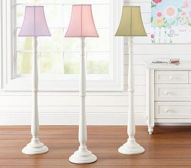 Floor lamp green lampshade from pottery barn kids for Chandelier floor lamp for nursery