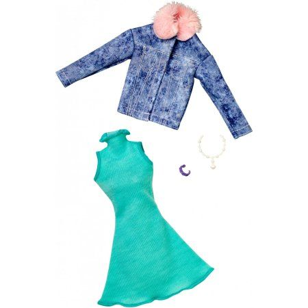 Barbie Fashion Complete Looks Teal Sleeveless Dress Denim Jacket Walmart Com Barbie Fashion Fashion Doll Clothes Barbie