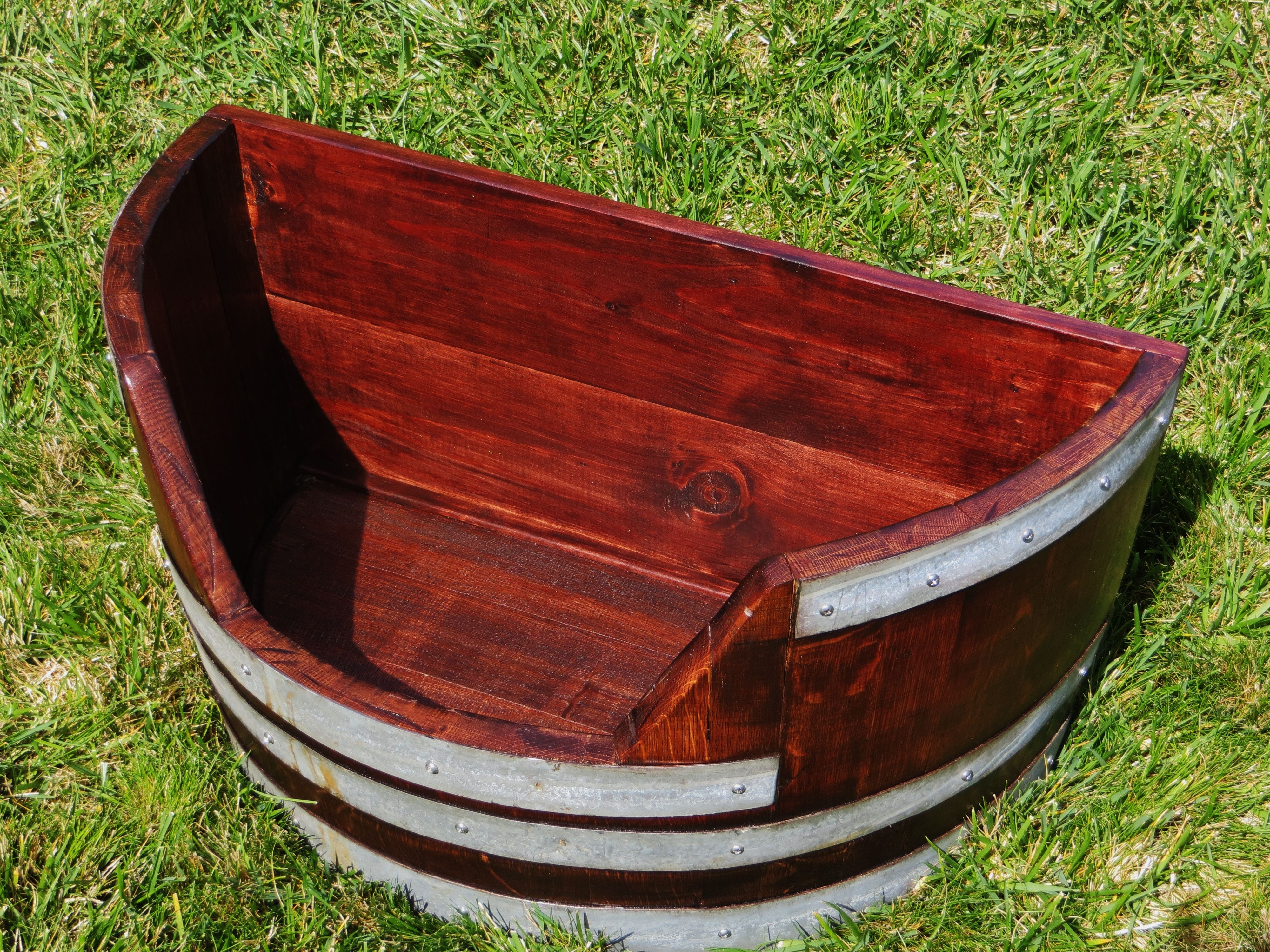 Wine Barrel Dog Toy Chest Made From Reclaimed White Wine Barrel From The Napa Valley From Barrels Of Fun Santa Rosa Www Barre Wine Barrel Wine Country Barrel