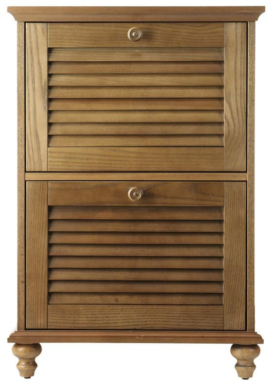 shutter two-drawer file cabinet | home decorators