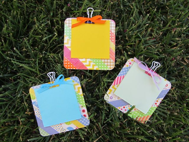 washi tape POST-IT note clipboard by Nancy Dom