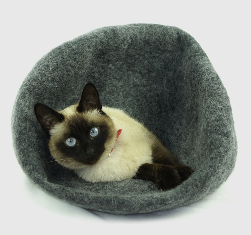 Art design from wool felt, each as unique as your cat