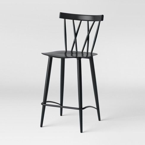 Strange Set Of 2 Becket Metal X Back Counter Stool Black Project Unemploymentrelief Wooden Chair Designs For Living Room Unemploymentrelieforg