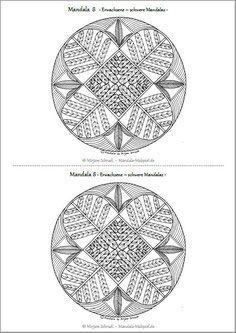 Mandalas Zum Ausdrucken Für Erwachsene Mandala Ausmalbilder Vorlage