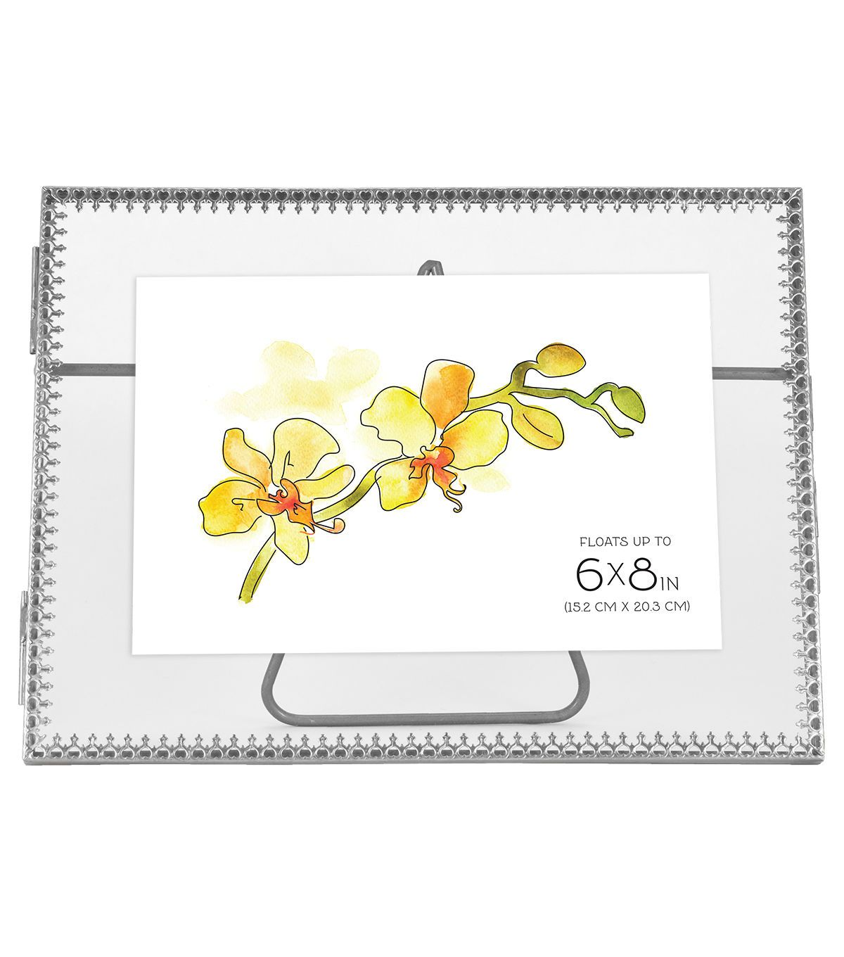 Detailed Edge Pressed Glass Float Picture Frame 6 X8