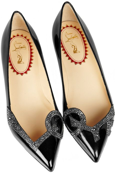 20th Anniversary Pigalove patent-leather ballet flats by Christian Louboutin