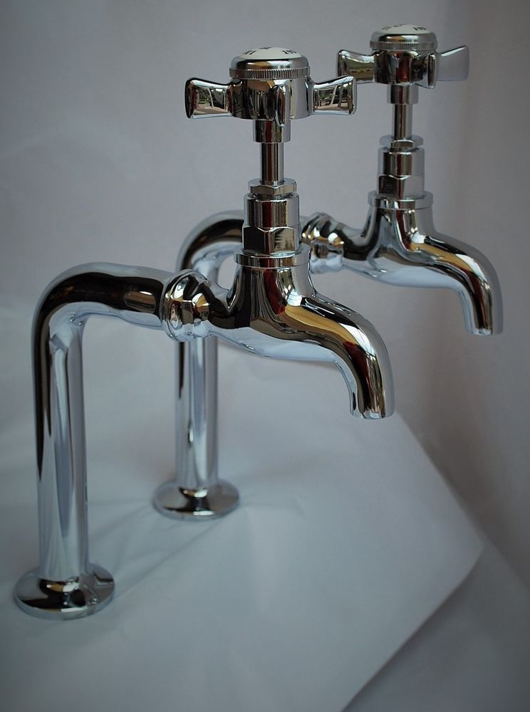 Chrome tall bib taps belfast kitchen taps reclaimed & refurbished ...